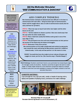 """Motivator Maps for Educators© Map for """"BEE COMMUNICATION"""""""