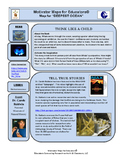 "Motivator Maps for Educators© Map for ""DEEPEST OCEAN"""