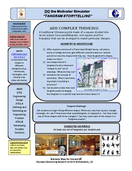 """Motivator Maps for Educators© Map for """"TANGRAM STORYTELLING"""""""