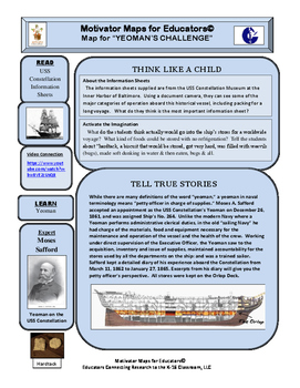 """Motivator Maps for Educators© Map for """"YEOMAN'S CHALLENGE"""""""