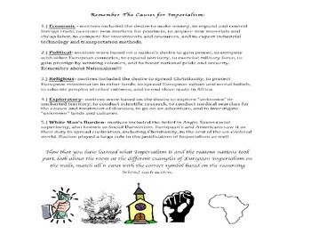 Motives for Imperialism Carousel Activity