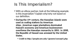 Motives for U.S. Imperialism: An Inquiry-Based, Primary Source Lesson