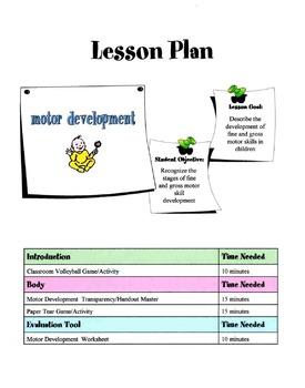 Motor Development In Children Lesson