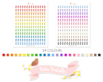 Motor Oil Printable Planner Stickers