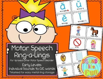 Motor Speech Ring-a-Lings For Apraxia: Early Levels