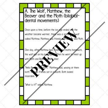 Motor-Speech Stories for Articulation Movements Bundle