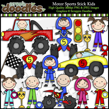 Motor Sports Stick Kids