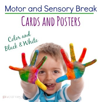 Motor and Sensory Break Cards and Posters