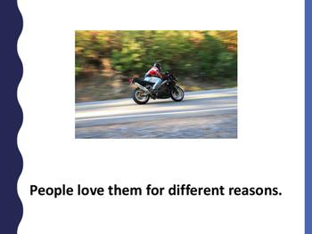 Motorbikes simple text reader