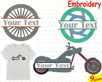Motorcycle Mo Embroidery Machine digital 4x4 5x7 hoop Stiches mom dad 87b