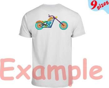 Motorcycle Motorbike Embroidery Design moto bike wheel toys wheel science 139b
