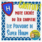 Mots Cachés | Pouvoirs de Super Hakim Ch1 French Vocabular