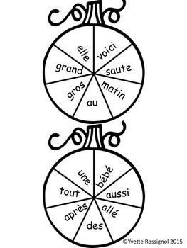 Mots Citrouilles (Mots fréquents, lecture, activité, L'Halloween, amusant)