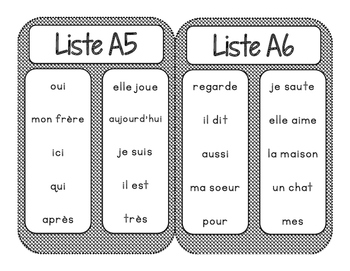 Mots Usuels - Niveau 1  / French Sight Words - Level 1