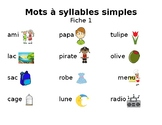 Mots a syllabes simples