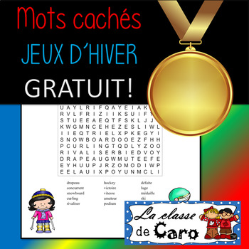Mots cachés - JEUX D'HIVER (FRENCH - FSL)