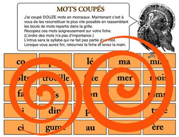 Mots coupés (L'ACTION DE GRÂCE)