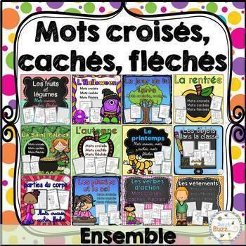 Mots croisés, cachés, fléchés - Ensemble - French crosswords