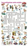 Mots croises crosswords metier professions travail french