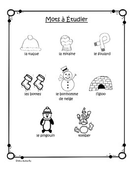 French Winter Spelling