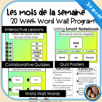 Mots de la semaine: 1re année – Gr 1 Words of the Week Program
