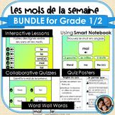 Mots de la semaine 1re et 2e année - BUNDLE - Gr 1/2 Words
