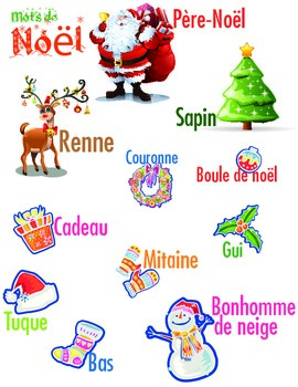 Mots de noël - French Christmas words