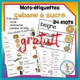 Mots-etiquettes - cabane a sucre / sugar shack words wall