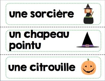 Mots étiquettes de la trousse de vocabulaire/French word wall vocabulary