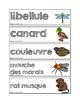 Mots-étiquettes des animaux des marais