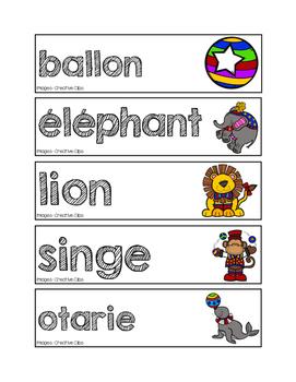 Mots-étiquettes du cirque