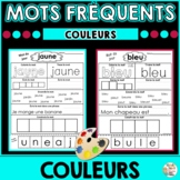 Mots fréquents - Les couleurs          -     French Sight Words - colors/colours