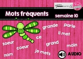 Mots fréquents / semaine 10 / BOOM CARDS