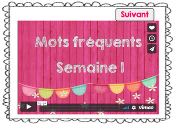 Mots fréquents / semaine 2 / BOOM CARDS