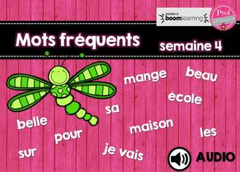 Mots fréquents / semaine 4 / BOOM CARDS