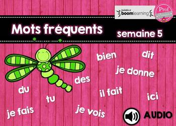 Mots fréquents / semaine 5 / BOOM CARDS