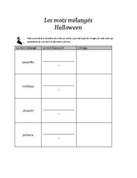 Mots mélangés - Halloween