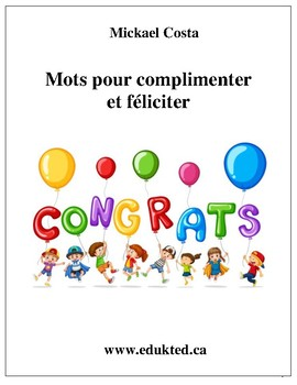 Mots pour complimenter et féliciter (149)