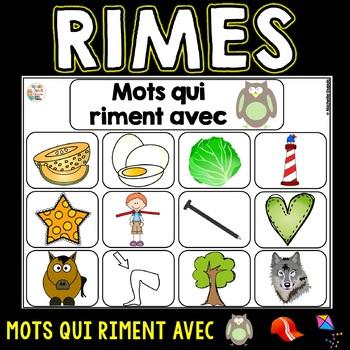 Mots qui riment (sons an, ette, ou)