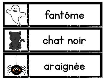 Mots étiquettes Halloween