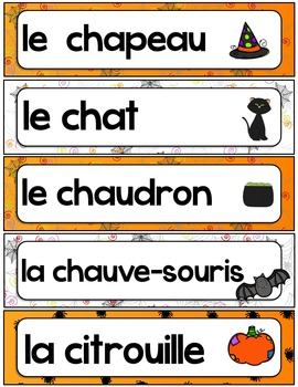 Mots-étiquettes Halloween automne Words wall