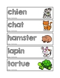 Mots-étiquettes des animaux de la maison (domestiques)