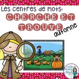 """Mots fréquents:  French Sight Word Activity - """"Cherche et trouve: l'automne"""""""
