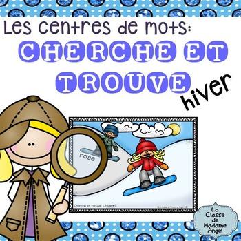 """Mots usuels:  French Sight Word Activity - """"Cherche et trouve: l'hiver"""""""