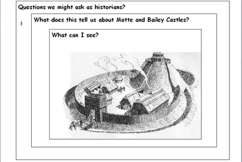 Motte and Bailey Castles Worksheets