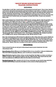 Motivational & Educational Reward Board! (11 X17)