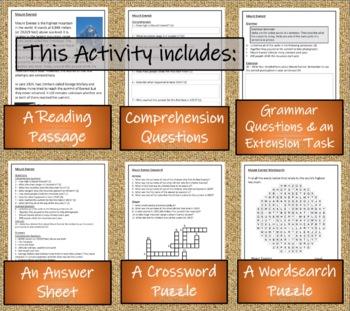 Mount Everest - 3rd Grade & 4th Grade Close Reading Activity