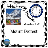 Mount Everest History Minute Cross Curricular History and Close Reading Packet