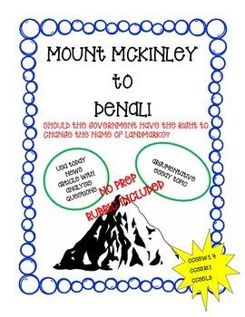 Mount McKinley to Mount Denali (Argument Analysis and Argu