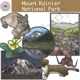 Mount Rainier National Park Clipart Set